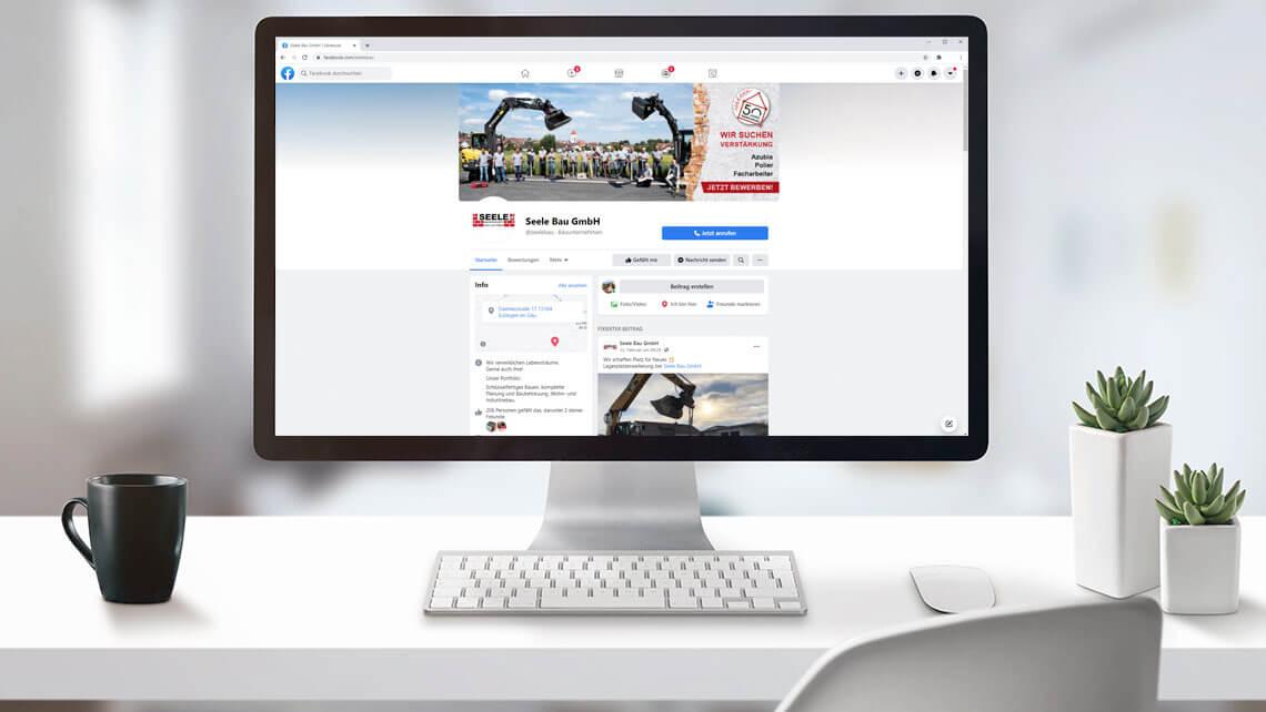 KFS STUDIO Referenzen – Facebook und Instagram , Aufbau und Betreuung der Social Media Seiten für unseren Kunden Seele Bau GmbH aus Eutingen im Gäu.