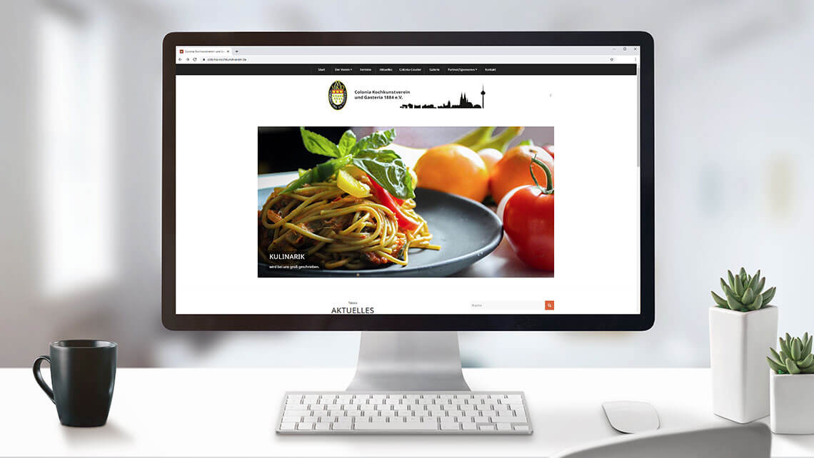 KFS STUDIO Referenzen - Webseite, Webdesign Colonia Kochkunstverein, Köln